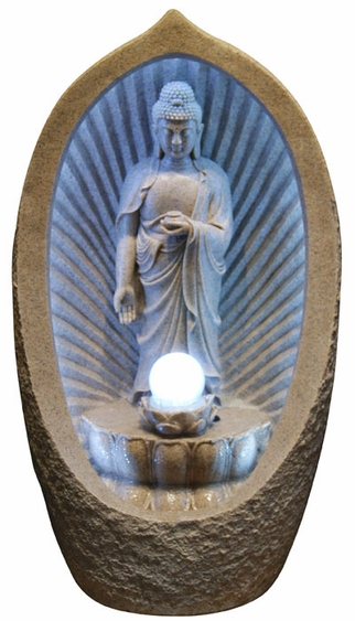 Buddha Awakening Water Fountain w/LED Light - Click to enlarge