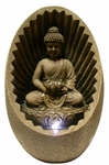 Buddha Sunburst Tabletop Fountain