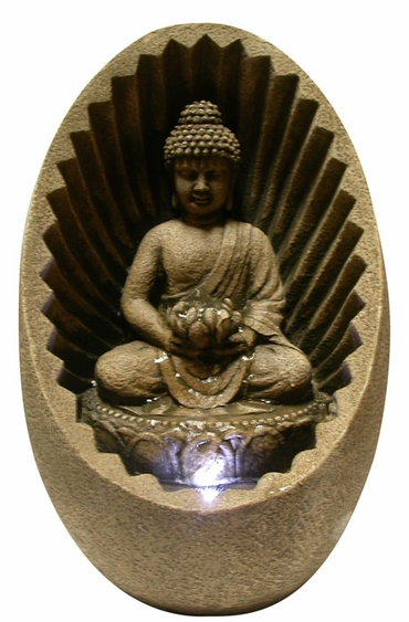Buddha Sunburst Tabletop Fountain - Click to enlarge