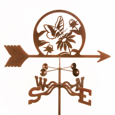 Butterfly & Flowers Weathervane - Click to enlarge