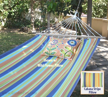 Cabana Stripe Sundure Fabric Hammock - Click to enlarge