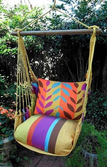 Cafe Soleil Leaves Hammock Chair Swing Set - Click to enlarge