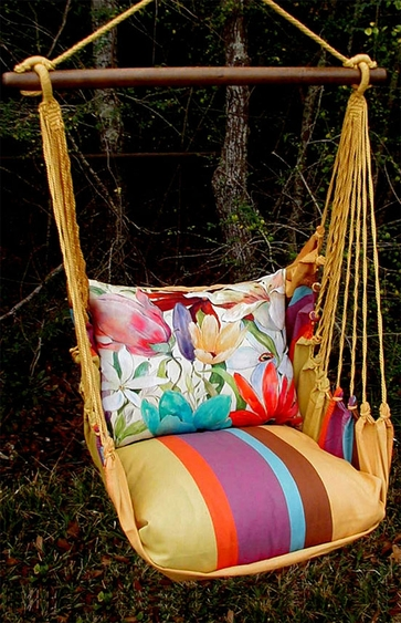 Cafe Soleil Tropical 2 Hammock Chair Swing Set - Click to enlarge