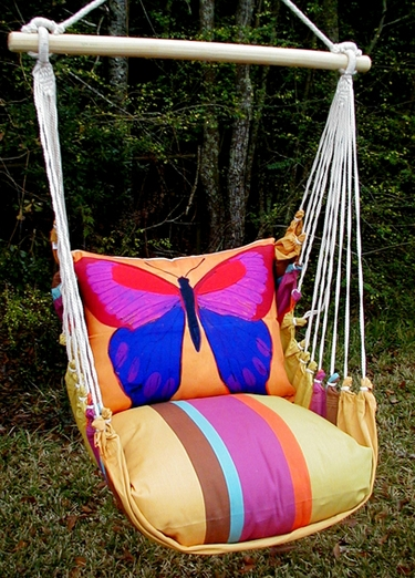 Cafe Soleil Yellow Butterfly Hammock Chair Swing Set - Click to enlarge