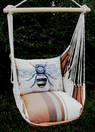 Cappuccino Bumblebee Hammock Chair Swing Set - Click to enlarge