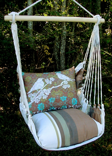 Cappuccino Duet Bird Hammock Chair Swing Set - Click to enlarge