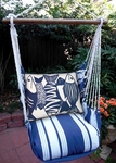Marina Stripe Blue Fish Hammock Chair Swing Set