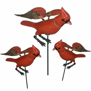 Cardinal Garden Stakes (Set of 6) - Click to enlarge