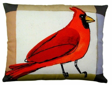 Cardinal Outdoor Pillow - Click to enlarge