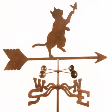 Cat & Butterfly Weathervane - Click to enlarge