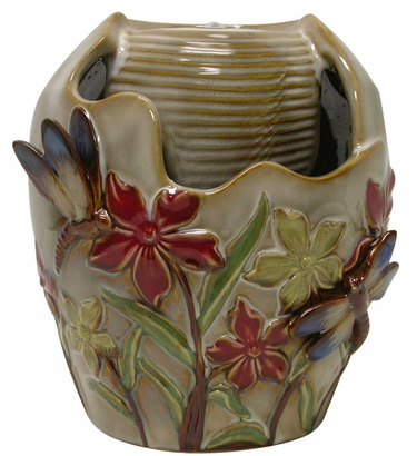 Ceramic Dragonfly Tabletop Fountain - Click to enlarge