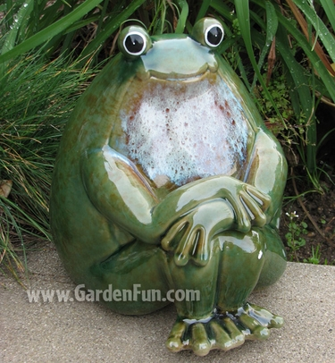 Ceramic Frog Statue Peaceful Garden only 3895 at Garden Fun