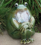 Ceramic Frog Statue - Peaceful Garden