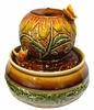 Ceramic Sunflower Tabletop Fountain