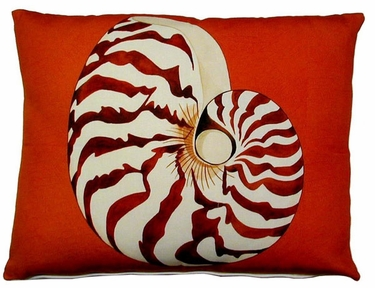 Chambered Nautilus Outdoor Pillow - Click to enlarge