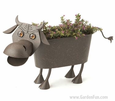 Charles the Bull Planter Decor - Click to enlarge