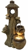 Charming Birdhouse Outdoor Fountain w/LED Lights