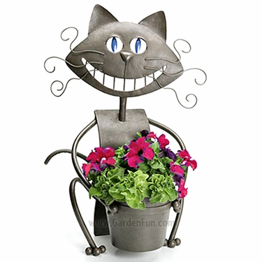 Chessie Cat Planter - Click to enlarge