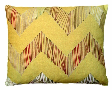 Chevron Big Yellow Outdoor Pillow - Click to enlarge
