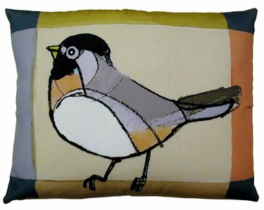 Chickadee Outdoor Pillow - Click to enlarge