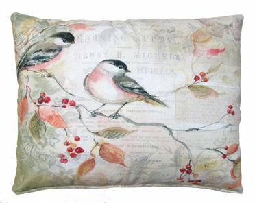 Chickadees Outdoor Pillow - Click to enlarge