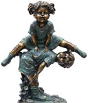Children Playing Garden Statue