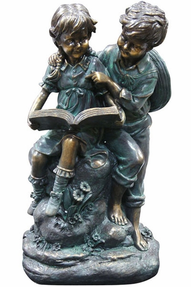 Children Reading Together Statue - Click to enlarge