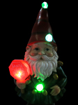 "Christmas Gnome w/LEDs: ""Santa Please Stop Here"""
