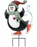Christmas Penguin Stake / Wall Decor