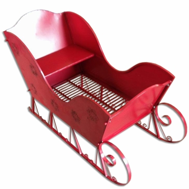 Red Christmas Sleigh Decoration - Click to enlarge