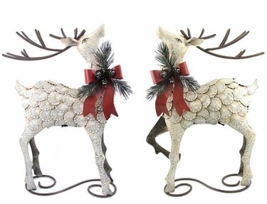 Iron Christmas Reindeer (Set of 2) - Click to enlarge