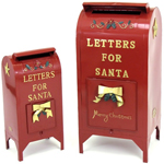 Christmas Santa Mailboxes (Set of 2)