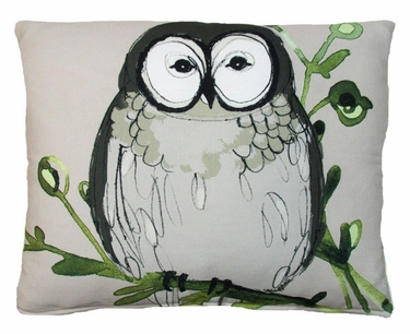 Chubby Owl Outdoor Pillow - Click to enlarge