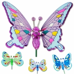 Colorful Butterfly Garden Stakes (Set of 6)