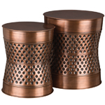 Copper Dot Garden Stools & Planters (Set of 2)