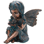 Copper Fairy Statue
