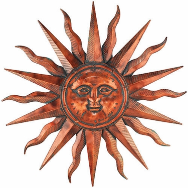 Copper Patina Sun Wall Art - Click to enlarge