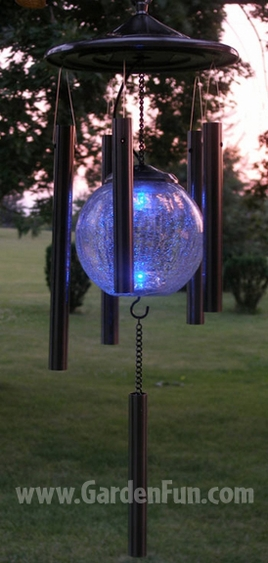 Copper Solar Wind Chime Only 49 95 At Garden Fun