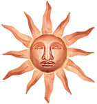 Copper Sun Face - Wall Decor