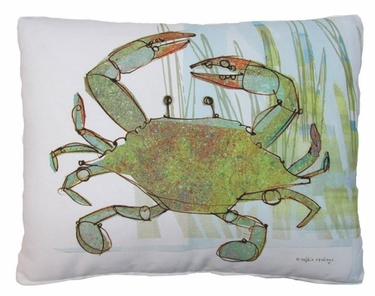 Crab in Marsh Outdoor Pillow - Click to enlarge