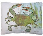 Crab in Marsh Outdoor Pillow