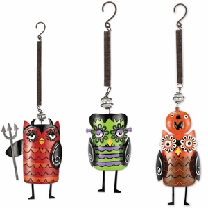 Creepy Halloween Owl Bouncies (Set of 3) - Click to enlarge