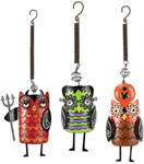 Creepy Halloween Owl Bouncies (Set of 3)