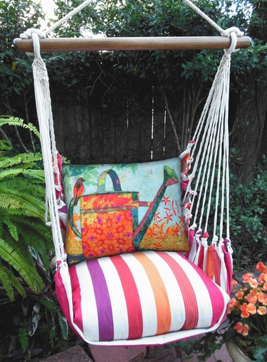 Cristina Stripe Watering Can Hammock Chair Swing Set - Click to enlarge