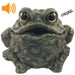 Croaking Toad w/Motion Sensor - Dark Natural