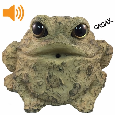 Croaking Toad w/Motion Sensor - Light Natural - Click to enlarge