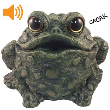 Croaking Toad w/Motion Sensor - Dark Natural - Click to enlarge