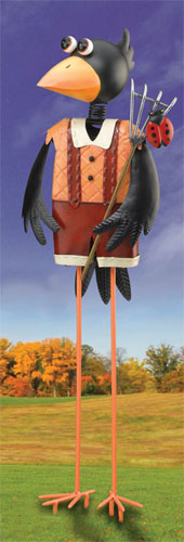 Crow Boy Garden Decor - Click to enlarge