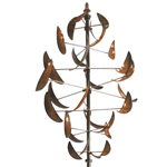 Dancing Leaves Wind Spinner - Copper