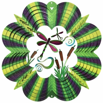 Designer Dragonfly Wind Spinner - Click to enlarge